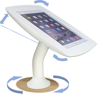 Rotating stand with Swivel and tilt function